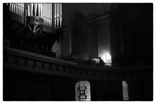 Concert for Organ and Electronics - St John at Hackney, London. Photo: Fabio Lugaro