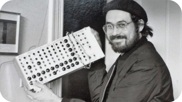 Serge with one of his early synthesisers